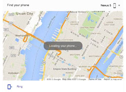نقشه گوگل جهت پیدا کردن گوشی گمشده