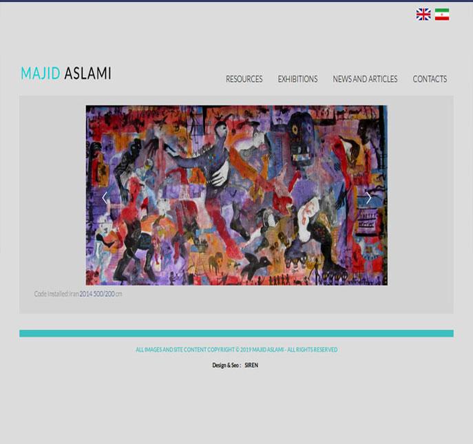 وب سایت شخصی مجید اسلمی